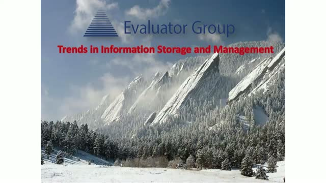 2018: Trends in Information Storage and Management