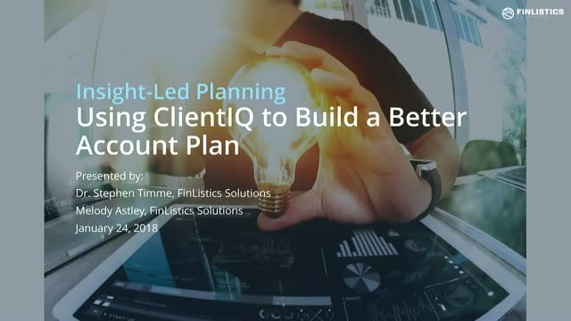 Insight Led Planning- using Client IQ to build a better account plan