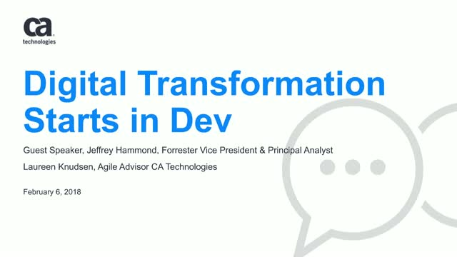 Digital Transformation Starts in Dev