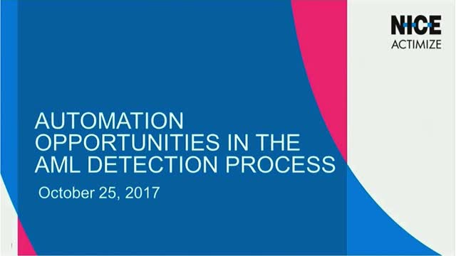 Automation Opportunities in the AML Detection Process