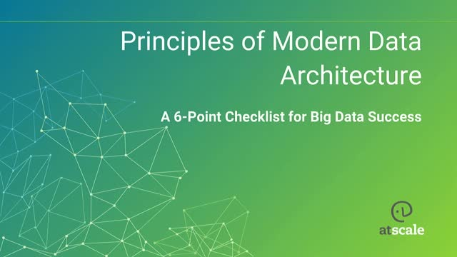 6 Principles of Modern Data Architecture