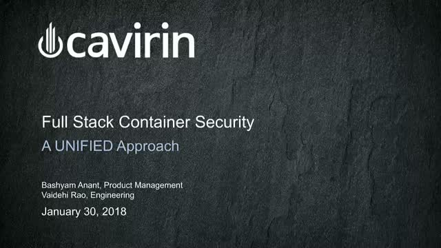 A Unified Approach to Full Stack Container Security