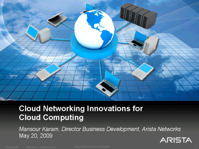 Cloud Networking Innovations for Cloud Computing