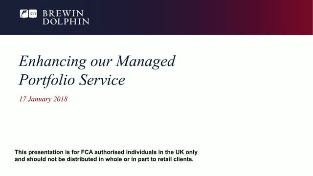 Managed Portfolio Service Update