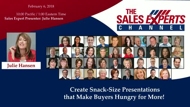 Create Snack-Size Presentations that Make Buyers Hungry for More!
