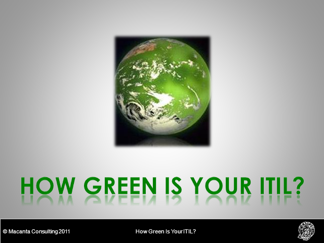 Green IT Week - a lifecycle approach to reducing carbon footprint