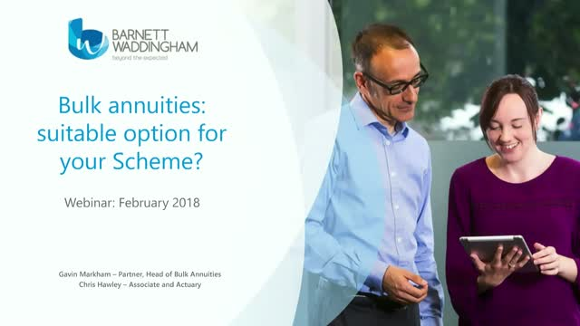 Could a buy-in or buy-out be right for your scheme?