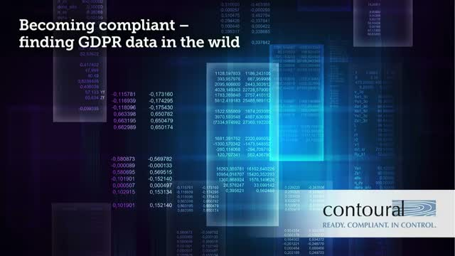Becoming Compliant – Finding GDPR Data in the Wild