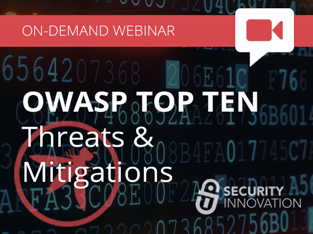 OWASP Top Ten - Threats & Mitigations