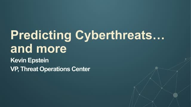 Threat Prediction, plus new PFPT product