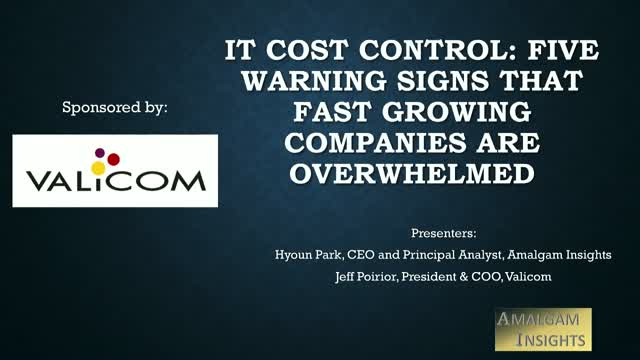 IT Cost Control: Five Warning Signs that Fast Growing Companies Are Overwhelmed