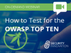 How To Test For The OWASP Top Ten