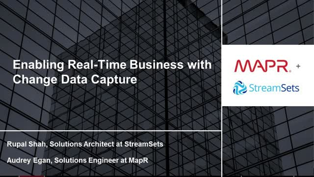Enabling Real-Time Business with Change Data Capture