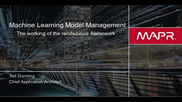 Machine Learning Workshop 1: A New Architecture for Machine Learning Logistics