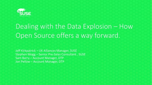 Dealing with the Data Explosion – how Open Source offers a way forward