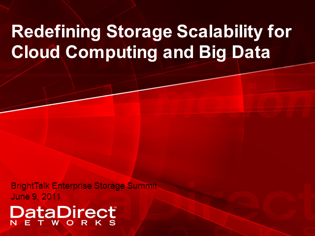 Redefining Storage Scalability For Cloud Computing and Big Data