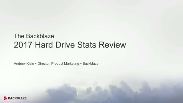 Backblaze Hard Drive Stats for 2017
