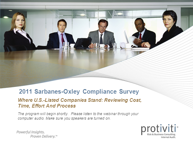 2011 Sarbanes-Oxley Compliance Survey