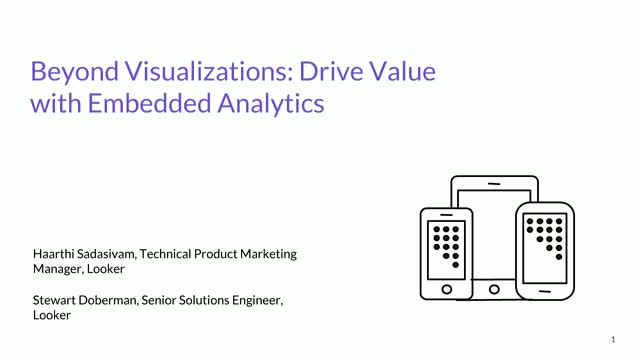 Beyond Visualizations: Drive Revenue with Embedded Analytics
