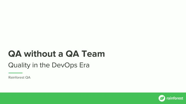 QA without a QA Team