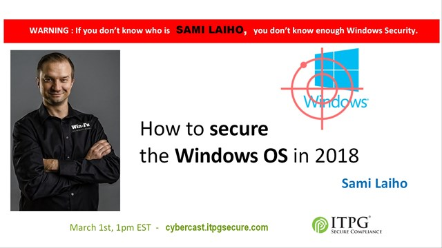 How to secure the Windows OS in 2018