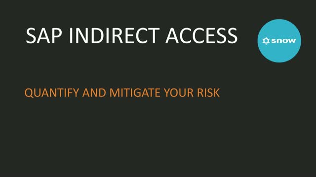 SAP Indirect Usage and How to Mitigate Against the Risk