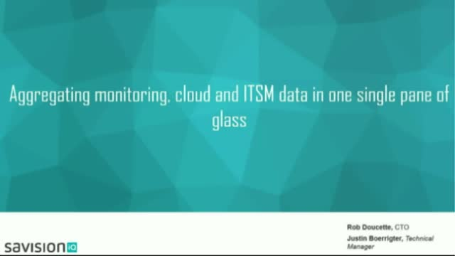 Aggregating monitoring, cloud and ITSM data in one single pane of glass