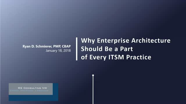 Why EA should be a part of every ITSM practice