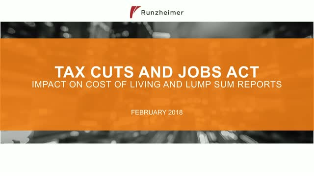 Tax Changes:  Impact on COLA and Lump Sum Reports