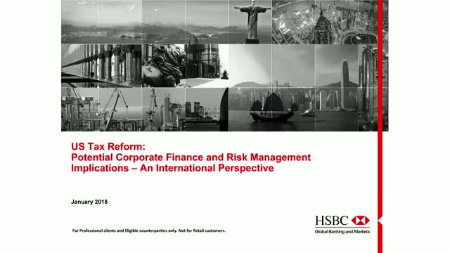 US Taxes: Potential Corporate Finance and Risk Management Considerations