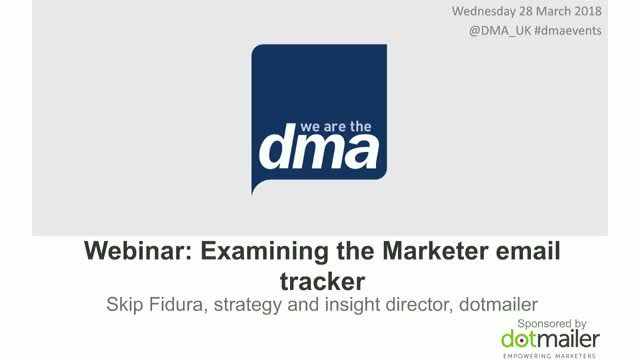 Webinar: Examining the Marketer email tracker 2017