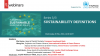European Sustainable Investment Policy: Series 3/3 SUSTAINABILITY DEFINITIONS