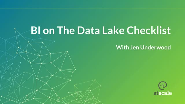BI on the Data Lake Checklist: Gartner BI MQ Review