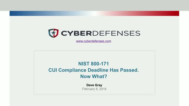 The NIST 800-171 CUI Compliance Deadline Has Passed. Now What?