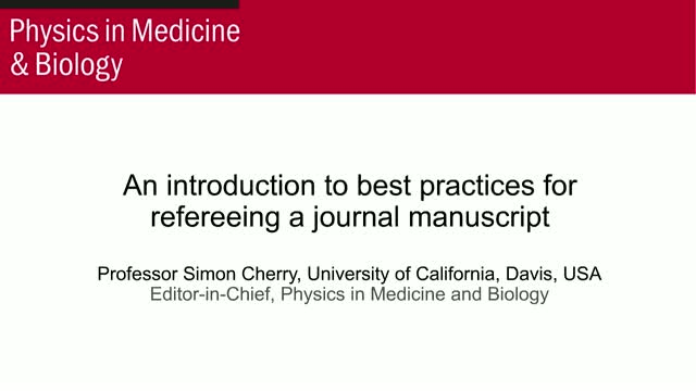 An introduction to best practices for refereeing a journal manuscript