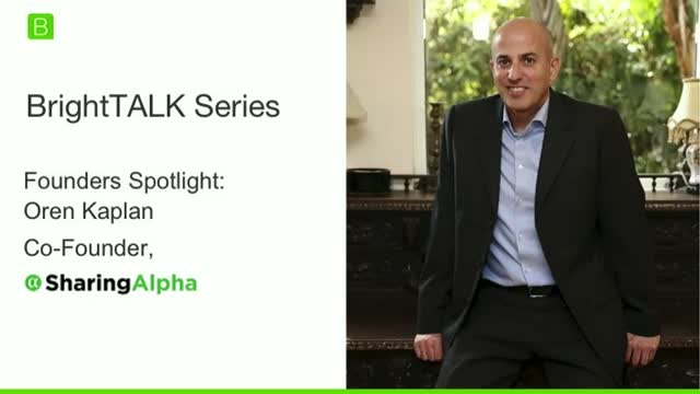 [Ep.3] Founders Spotlight: Oren Kaplan, Founder of SharingAlpha