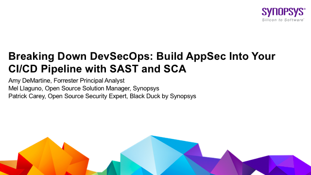Breaking Down DevSecOps: Build AppSec Into Your CI/CD Pipeline with SAST and SCA