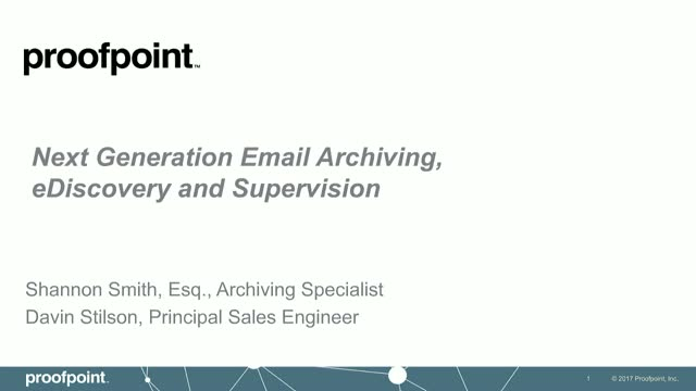 Enterprise Archive with Proofpoint - See it Live