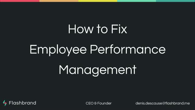 How to fix employee performance management