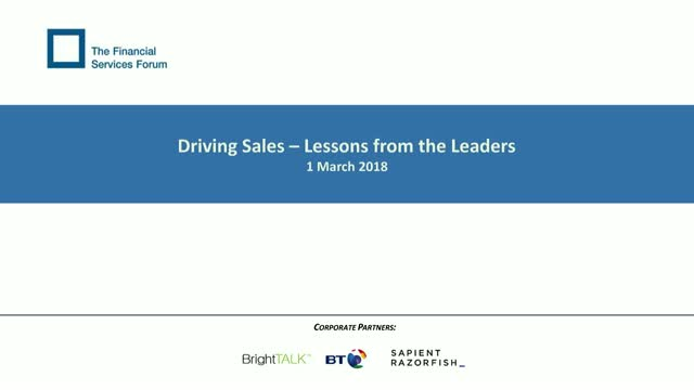 Driving Sales – Lessons from the Leaders