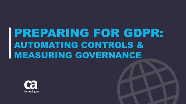 Preparing for GDPR Compliance and Measuring Governance