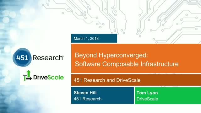 Beyond Hyperconverged: Software Composable Infrastructure