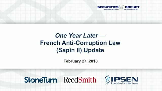 One Year Later: French Anti-Corruption Law (Sapin II) Update