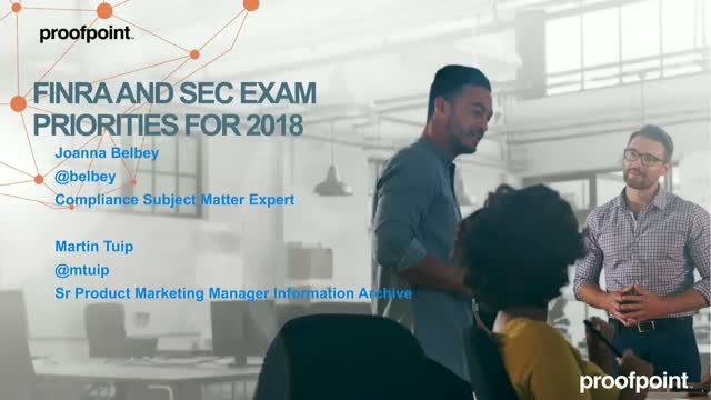 FINRA And SEC Exam Priorities For 2018