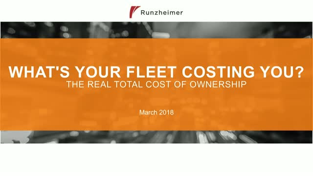 What's Your Fleet Costing You?