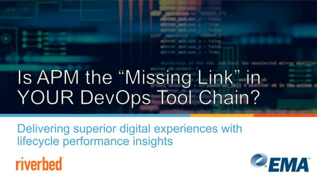 Is APM the Missing Link in YOUR DevOps Tool Chain?