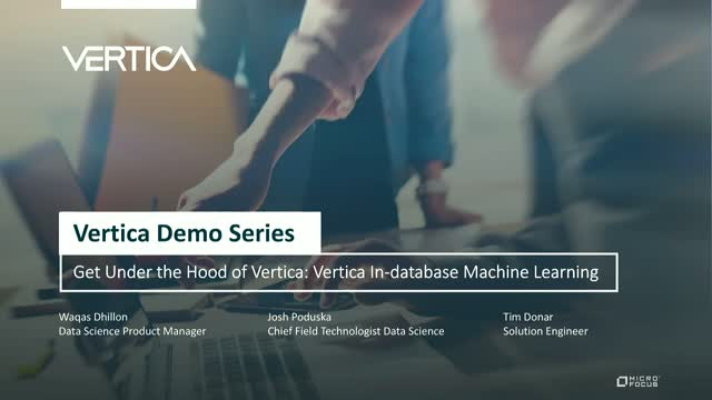 Under the Hood: Introduction to Vertica In-database Machine Learning