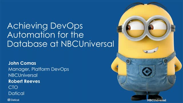 Achieving DevOps Automation for the Database at NBCUniversal