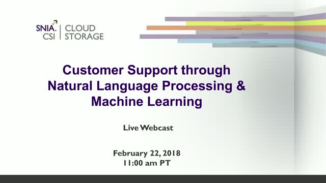 Customer Support through Natural Language Processing and Machine Learning