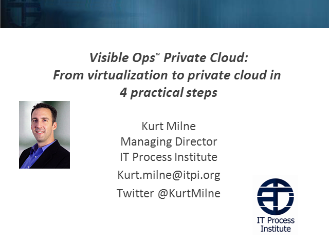 From Virtualization to Private Cloud in 4 Practical Steps